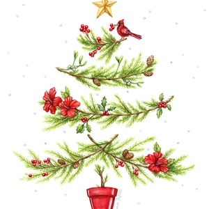 Illustration d'arbre de Noël pour Banque Nationale