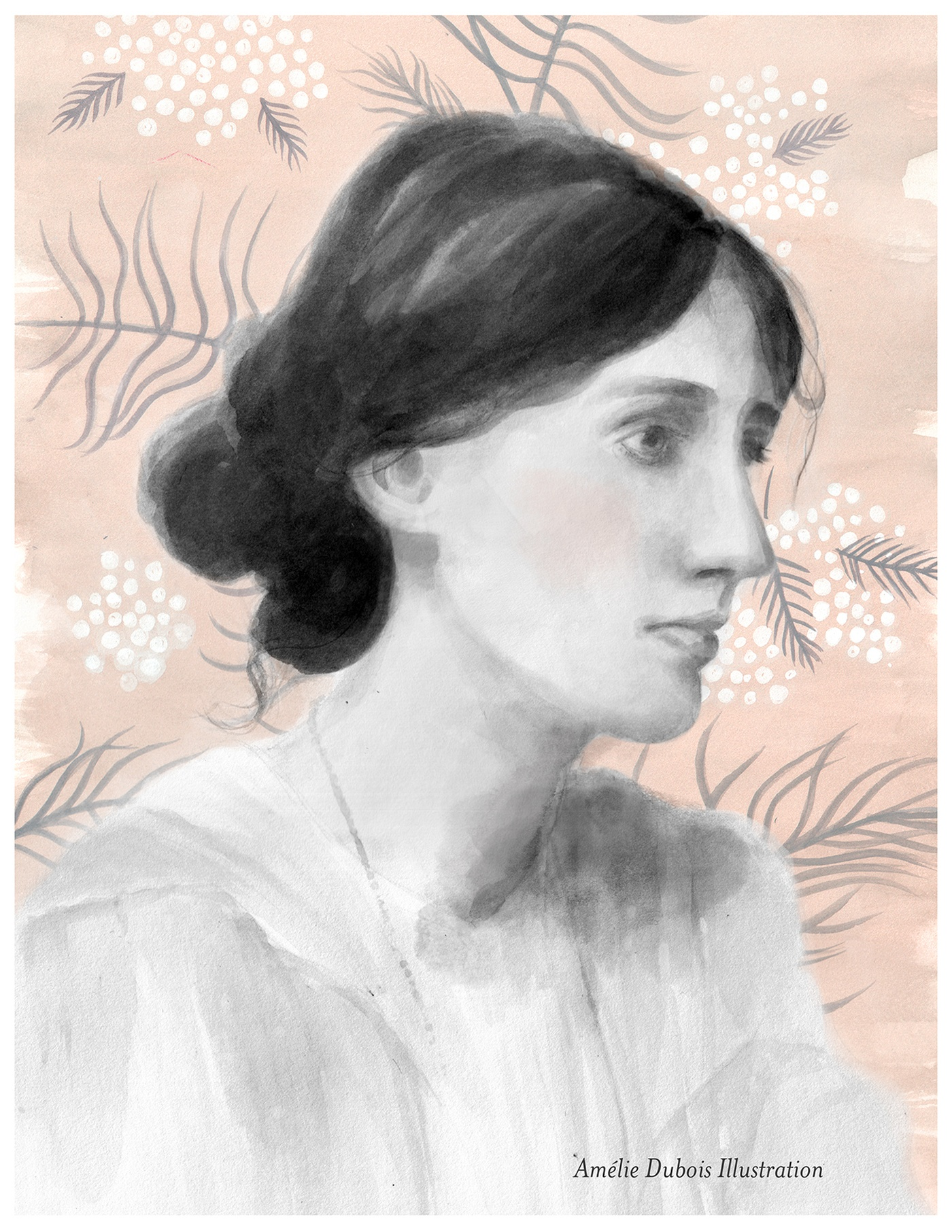 Amelie Dubois - Portrait de Virginia Woolf