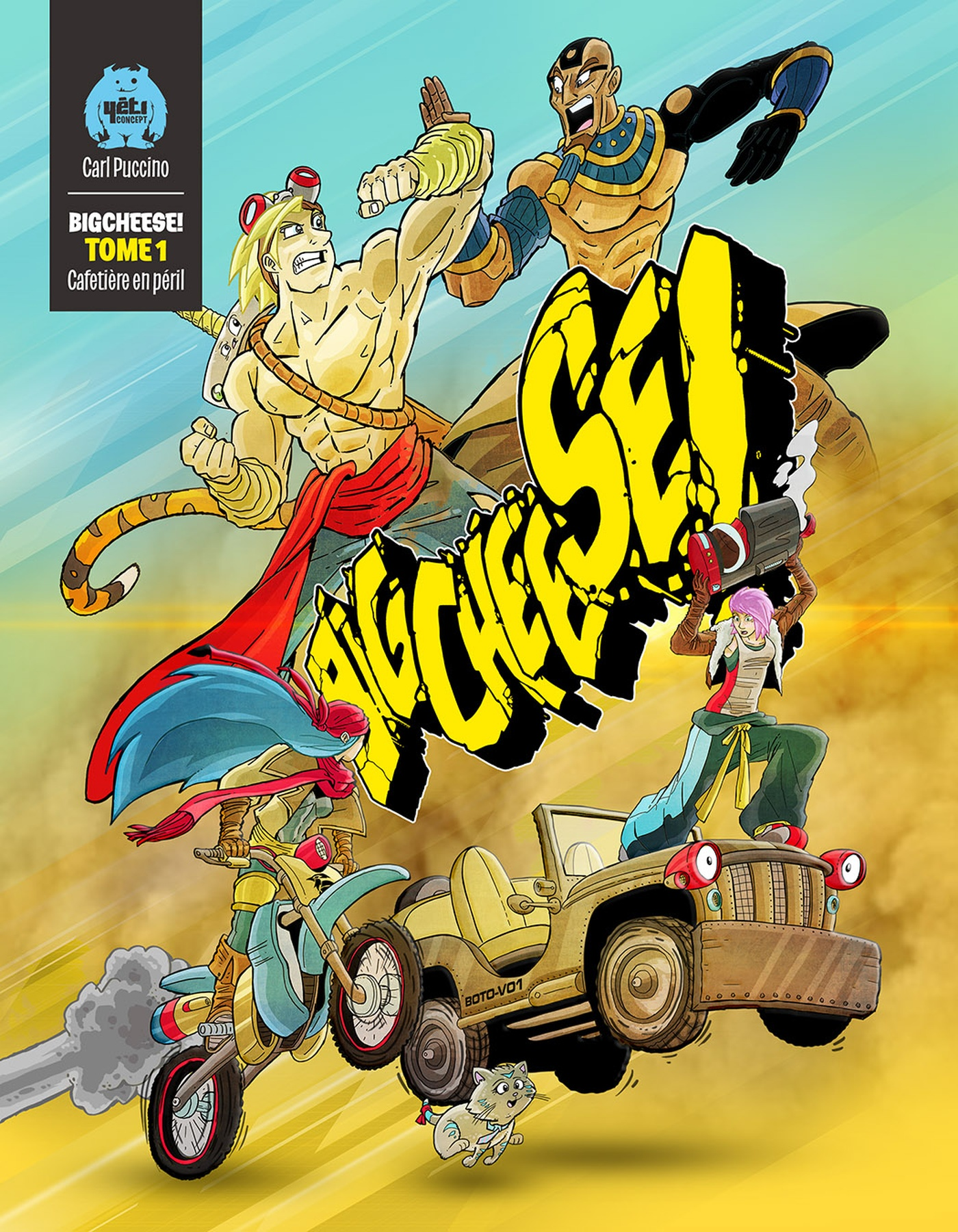 Carl Puccino - BigCheese! Couverture - Tome 1