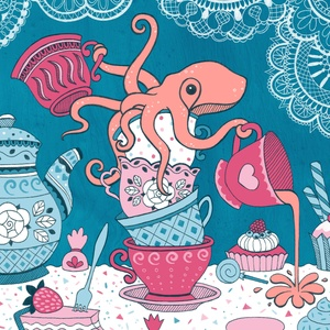 An Octopus' Tea Party - Pauline la pieuvre