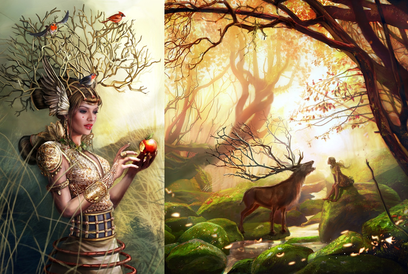 Laura Csajagi - Illustrations Carowings et Golden forest