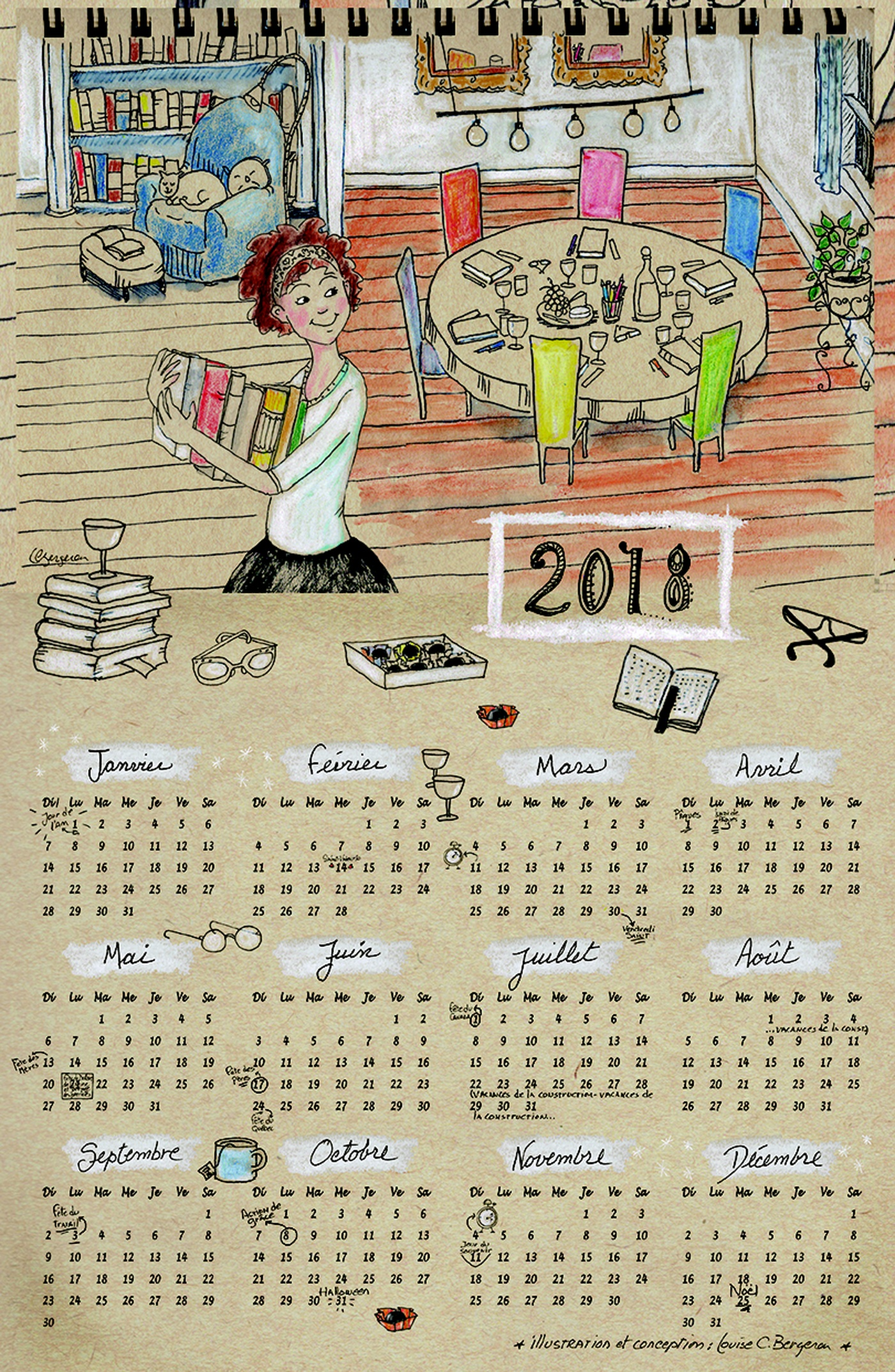 Louise Catherine Bergeron - Calendrier 2018