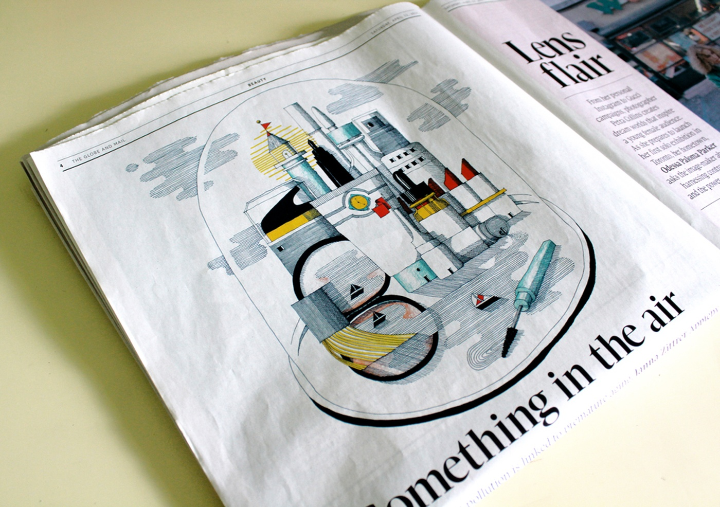 Camille Pomerlo - Illustration pour The Globe and Mail