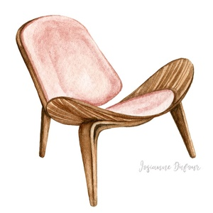 Chaise en bois, design danois