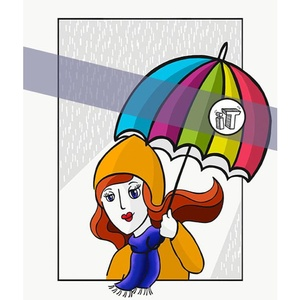 illustration Tardive - Parapluie