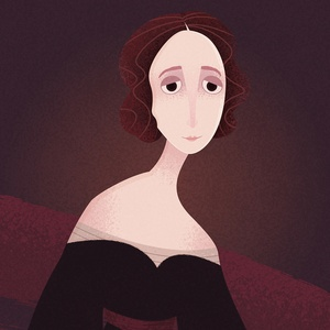 Portrait de Mary Shelley | Portrait of Mary Shelley