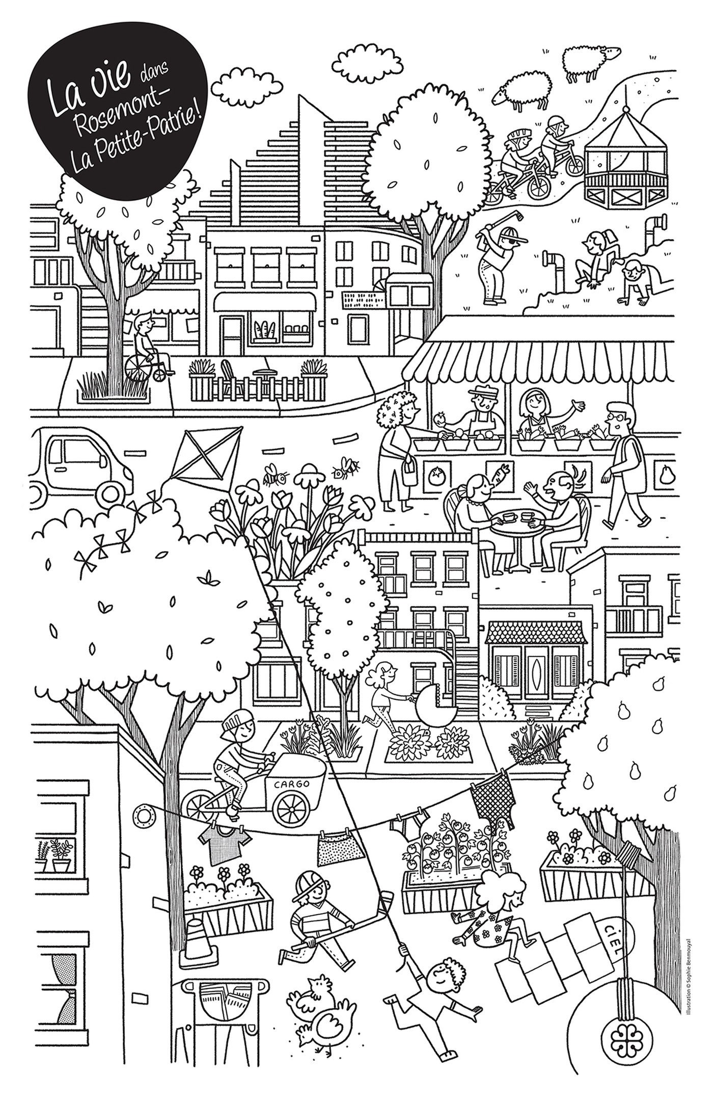 Sophie Benmouyal - 837_ROSEMONT_coloriage11x17_gray