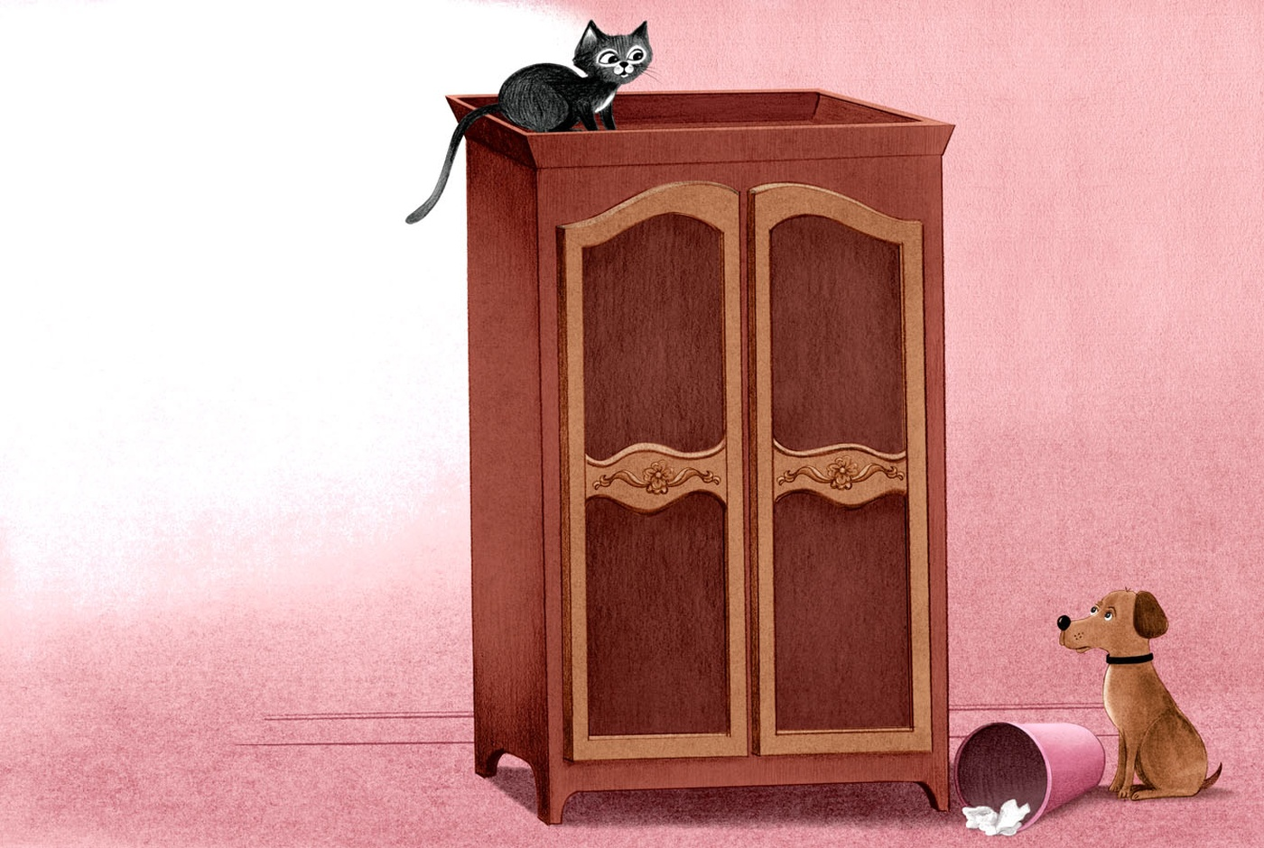 illustration qu bec ninon pelletier zizanie dans l 39 armoire. Black Bedroom Furniture Sets. Home Design Ideas